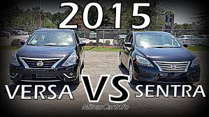 nissan versa in snow 2015 nissan versa vs sentra detailed comparison youtube
