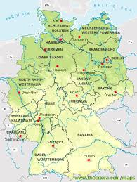 map of germany with states and capitals germany german chronicle