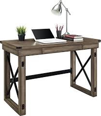Writing Desks For Home Office Ameriwood Home Wildwood Wood Veneer Desk Rustic Gray