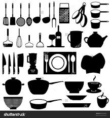 engaging kitchen utensils vector 7547c4488265b40ec904bd8a6547974d