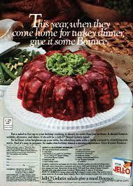 serve a cranberry wobbler for thanksgiving 1979 jello molds