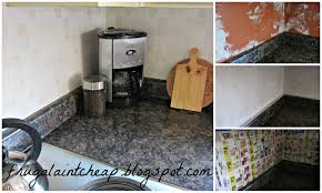 Inexpensive Kitchen Backsplash Frugal Ain U0027t Cheap Kitchen Backsplash Great For Renters Too