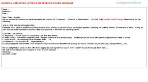 speeder frame changer offer letter