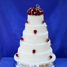 burgundy cultured pearl wedding cake classic five tier wedding