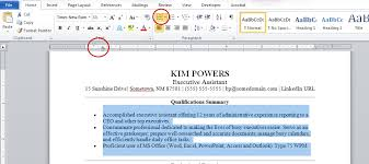 Resume Paragraph Format Resume Formatting Tips Using Microsoft Word