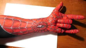 painting spiderman sleeve arm