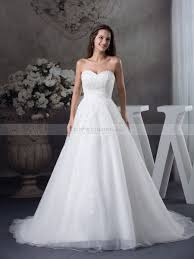sweetheart wedding dresses tulle and satin sweetheart wedding gown with beaded applique