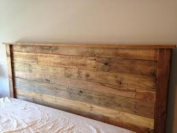 Pallet Wood Headboard Top Wood Headboards Diy On Diy King Sized Pallet Wood Headboard