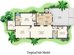 One Level Home Floor Plans Pleasant Modern Tropical House Floor Plans 1 Style Concrete House