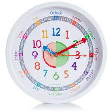 Silent Wall Clock Clockminster Time Teacher Silent Kids Wall Clock Child Bedroom