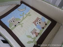 Boy Owl Crib Bedding Sets One Nursery Owl Themed Crib Bedding Set Exclusive Custom