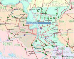 louisiana geographical map louisiana zip code map