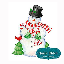 stitch country snowman counted cross stitch or