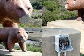 los osos bear statue is vandalized again the tribune