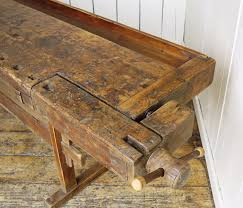 Antique Woodworking Tools For Sale Uk by Antique Woodworking Bench With Two Vices And Storage Box