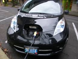 nissan leaf quick charge time first charge electric avenue portland microbattery