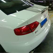 audi a4 spoiler aliexpress com buy a4 b8 pu unpainted primer 3pcs car kit