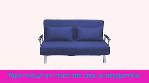 Foldable Sofa by Homcom 61 Folding Futon Sleeper Couch Sofa Bed Blue Youtube