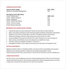Resume Examples For Bartender by Sample Bartender Resume Template 8 Download Free Documents In