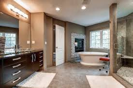 bathroom flooring simple white subway wall tiles and black floor