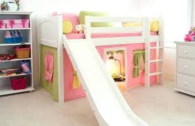 Bunk Beds Tents Bunk Bed With Slide Low Loft With Slide And Play Tent Shop This