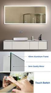 Lighted Bathroom Wall Mirror by Mirrors 133693 Led Backlit Lighted Bathroom Mirror Defogger