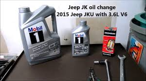2015 jeep jk wrangler oil change youtube