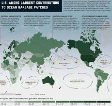 Ocean Currents Map Noc Global Ocean Currents Simulation Marine Waste Distribution