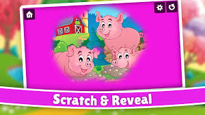 farm animals color scratch for kids u0026 toddlers android apps