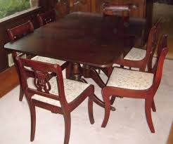 Dining Room Chairs For Sale Duncan Phyfe Dining Set With Lyre Back Chair With Paw Carved Feet