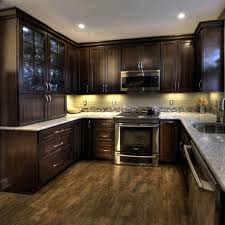 Dark Wood Modern Kitchen Cabinets Cherry Color A S On Decorating Ideas - Dark wood kitchen cabinets