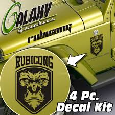 zombie jeep decals jeep wrangler 4 pc hood decal kit rubicong matte black sticker