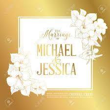 texte carte mariage carte d or avec le texte d invitation de mariage et un bouquet de