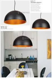 double layer 30cm iron semicircle black white suspended ceiling