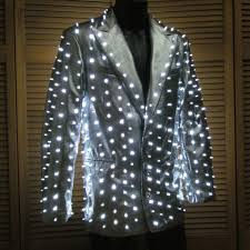 design of jacket structures silver suit jacket with 400 white leds enlighted designs