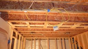o ceiling with electrical rough in and prior to decoupling using