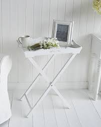 white side tables for living room a white butler tray side table living room furniture