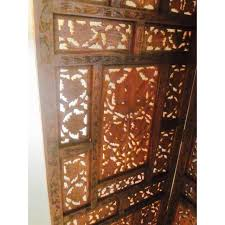 Room Divider Screen by Moroccan Teak Wood Room Divider Screen Chairish