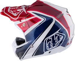 blue motocross gear troy lee designs se3 neptune red white blue motocross helmets troy