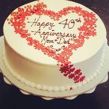wedding anniversary cakes 40th wedding anniversary cake ideas gift ideas bethmaru