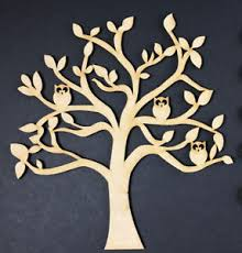 mdf wooden tree shape blank craft family tree frame wedding family