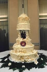 military cake topper w bride wearing her marine u0027s hat u003c3 i love