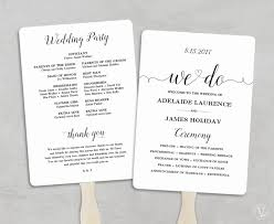 fan wedding program template 60 inspirational wedding program fans cheap wedding idea