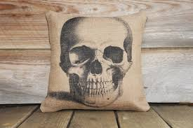 halloween pillow skull pillow pillow halloween decoration spooky porch