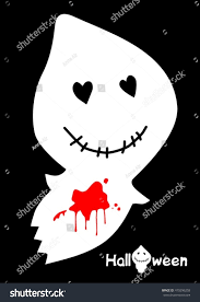 white and black halloween background white cute ghost on black background stock vector 479296258