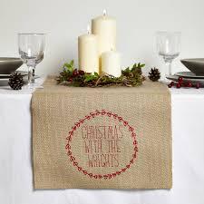 hessian christmas table decorations u2013 decoration image idea