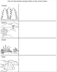 animals and their habitats worksheets kindergarten animal