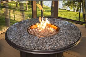 Glass Rocks For Fire Pit by Patio Ideas Round Propane Fire Pits Table With Little Glass Beads