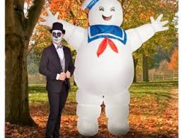 Stay Puft Marshmallow Man Costume Ghostbusters Inflatable Stay Puft Marshmallow Man Costume