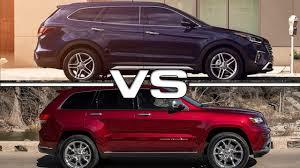 hyundai jeep 2013 hyundai santa fe sport vs jeep grand cherokee youtube